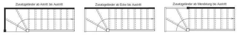 tischlerei treppen und gel nder raumspartreppe ohne gel nder 1 4 gewendelt fichte 61cm breit. Black Bedroom Furniture Sets. Home Design Ideas