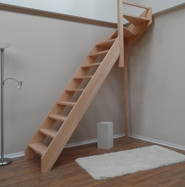 tischlerei treppen und gel nder nebentreppe ohne gel nder 1 4 wendelung oben holzart fichte. Black Bedroom Furniture Sets. Home Design Ideas