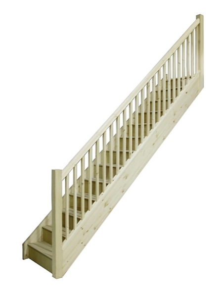 tischlerei treppen und gel nder einl ufig gerade treppe. Black Bedroom Furniture Sets. Home Design Ideas
