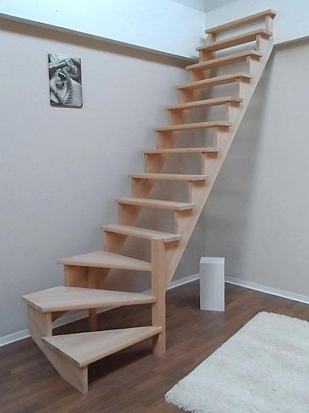 tischlerei treppen und gel nder aufgesattelte nebentreppe aus fichte ohne gel nder 1 4. Black Bedroom Furniture Sets. Home Design Ideas