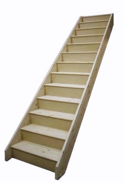 tischlerei treppen und gel nder einl ufig gerade treppe mit vollen stufen und setzstufen. Black Bedroom Furniture Sets. Home Design Ideas