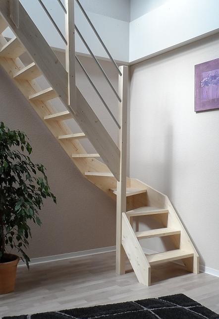 tischlerei treppen und gel nder raumspartreppe f r den kleinen platz 1 4 wendelung mit. Black Bedroom Furniture Sets. Home Design Ideas